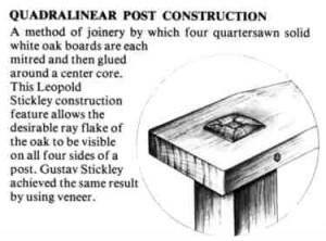 Stickley Quadrilinear Post Construction