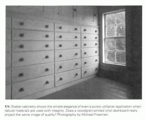 "Shaker Cabinet:Woodgrain Vinyl::""niche"" ED system:HIS ED module"